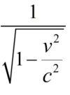 The Lorentz factor